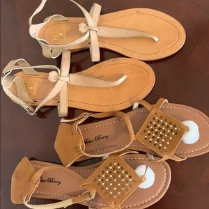 2 pr size 10 sandals - new and gently used - Frye